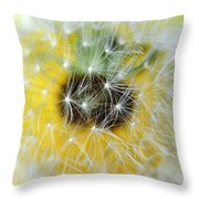 Three Dandelions In A Line Throw Pillow