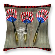 Three Darts Throw Pillow