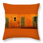 Three Doors In Provence Throw Pillow