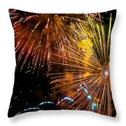 Three Explosions Throw Pillow