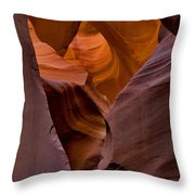 Three Faces In Sandstone Throw Pillow