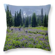 105417-three Fingered Jack And Wildflowers Throw Pillow