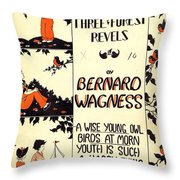 Three Forest Fevels Throw Pillow