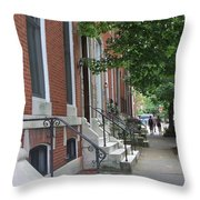 Three Friends In Baltimore Throw Pillow