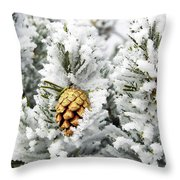 Three Frosty Cones Throw Pillow