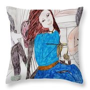 Three Generations Throw Pillow