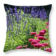 Three Great Colors Throw Pillow