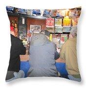 Three Guys In A Bar Throw Pillow