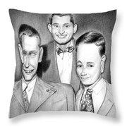 Three Guys Throw Pillow