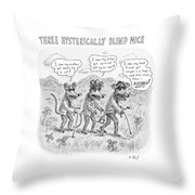 Three Hysterically Blind Mice Throw Pillow
