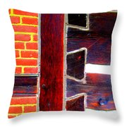 Three Joints Throw Pillow by Randall Weidner