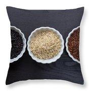 Three Kinds Of Rice Throw Pillow