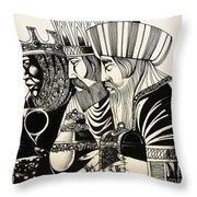Three Kings Throw Pillow