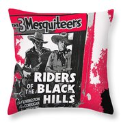 Three Mesquiteers Poster 1938 Store Window Ghost Town Madrid New Mexico 1968 Throw Pillow