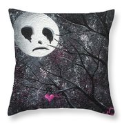 Three Moons Series - Man In The Moon Throw Pillow