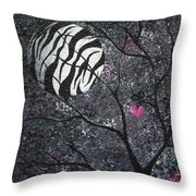 Three Moons Series - Zebra Moon Throw Pillow