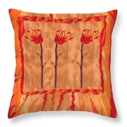 Three Of Wands Throw Pillow