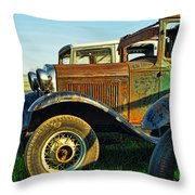 Three Old Fords Throw Pillow