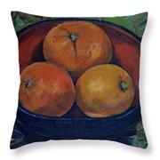 Three Oranges Throw Pillow