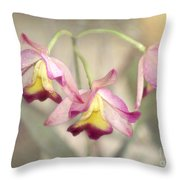 Three Orchid Beauties Throw Pillow