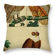 Three Owls Throw Pillow