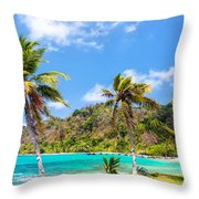 Three Palm Trees In Panama Throw Pillow