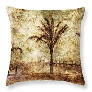 Three Palms 6 Throw Pillow