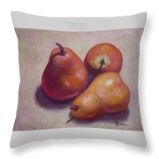 Three Pears #2 Throw Pillow