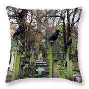 Three Ravens Throw Pillow