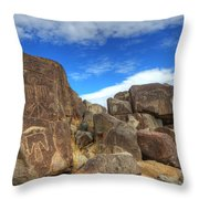 Three Rivers Petroglyphs 2 Throw Pillow