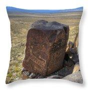 Three Rivers Petroglyphs 3 Throw Pillow