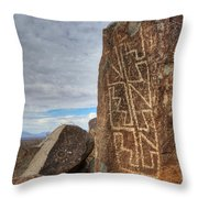 Three Rivers Petroglyphs 4 Throw Pillow