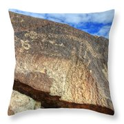 Three Rivers Petroglyphs 6 Throw Pillow