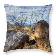 Three Rivers Petroglyphs 7 Throw Pillow