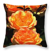 Four Rose At Mcc Throw Pillow