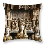 Three Saints In Marble Throw Pillow