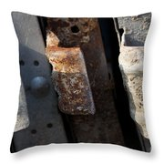 Three Shades Of Rust Throw Pillow