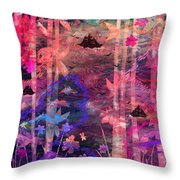 Three Ships Throw Pillow by Rachel Christine Nowicki