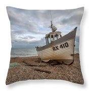 Three Sisters Fishing Boat Throw Pillow