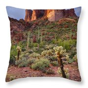 Three Sisters Sunset  Throw Pillow