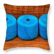Three Skeins Of Knitting Yarn Throw Pillow