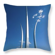 Three Soaring Spires Of Air Force Throw Pillow