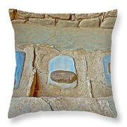Three Stones For Grinding Corn In Spruce Tree House In Mesa Verde National Park-colorado Throw Pillow