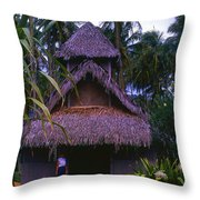 Three Story Hut 2 In Color Throw Pillow