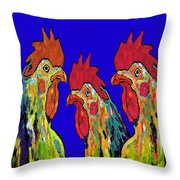 Three Tenors Throw Pillow