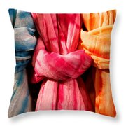 Three Tie-dye Knots Throw Pillow