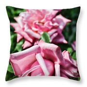 Three Times A Lady Throw Pillow