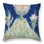 Three Trees On The Hilltop Throw Pillow