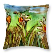 Three Trumpets Throw Pillow