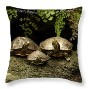 Three Turtles Throw Pillow